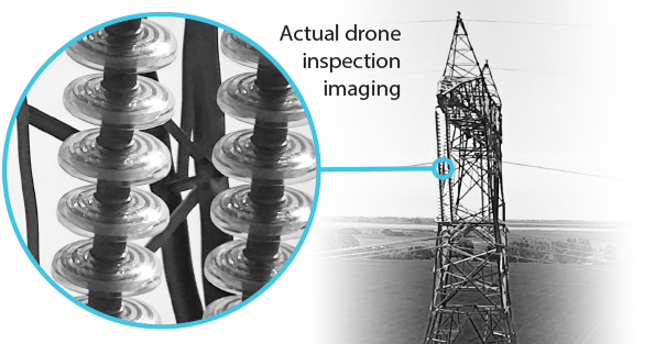 Acuren actual drone inspection imaging