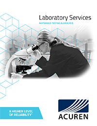 Laboratory Services - Materials Testing & Analysis brochure