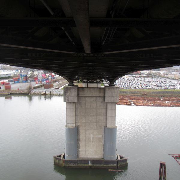 Underside of Bridge Emergency Water Main Repair - Acuren
