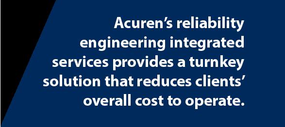 Acuren Reliability Engineering tab