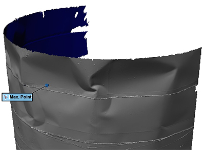 3D Laser Measurement of Tank Shell Deformations