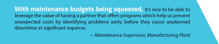 Maintenance budgets quote tab