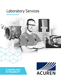 Laboratory Services Inspection NDT Services brochure